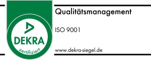 Primus Oberflächentechnik ISO 9001-2008 Prüfsiegel Fahne